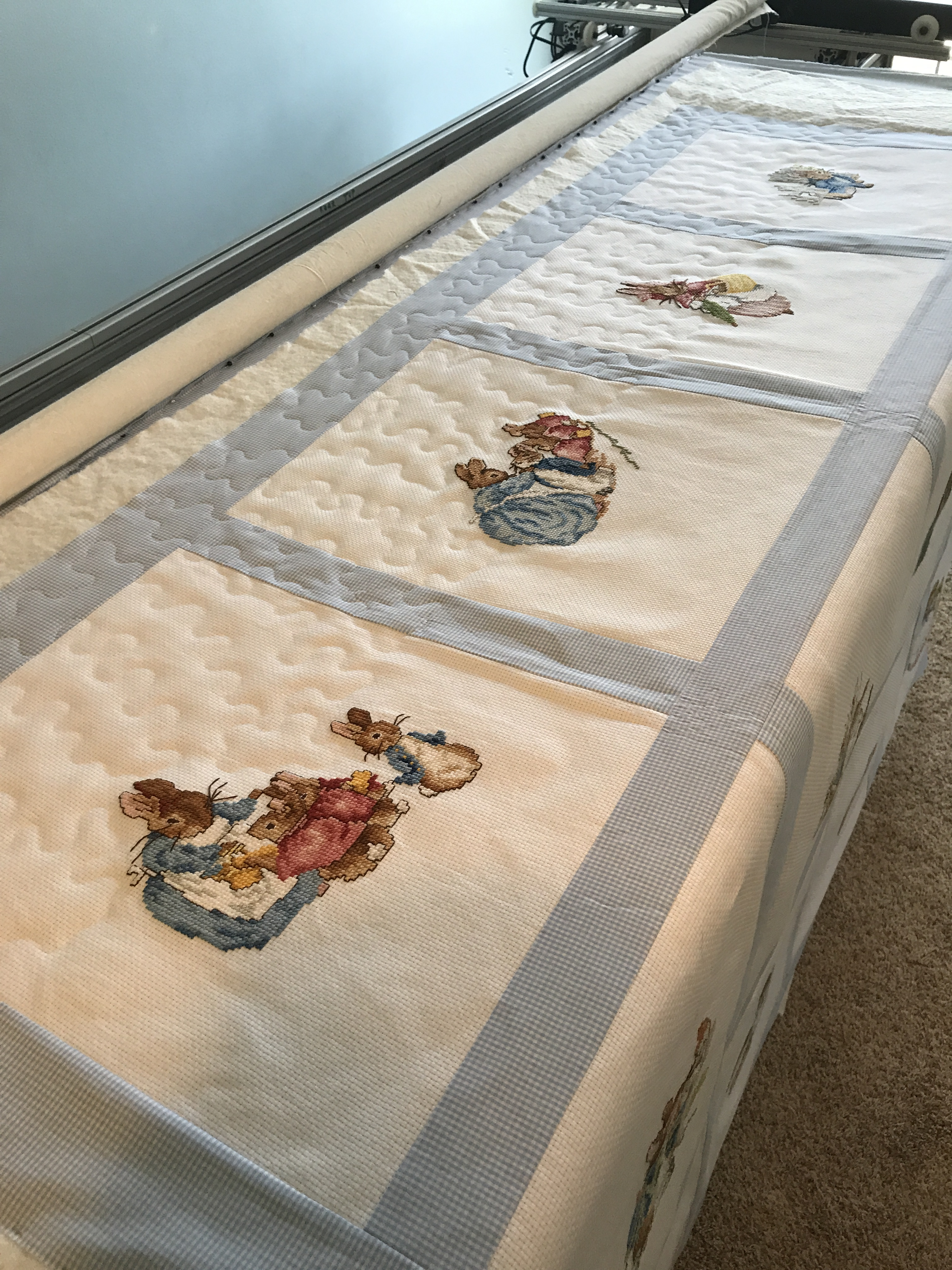 Peter Rabbit Cross Stitch Quilt Lowcountry Quilts Amp Embroidery
